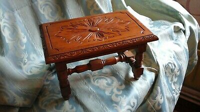 Stool arts and crafts style   Table..Unknown Wood .