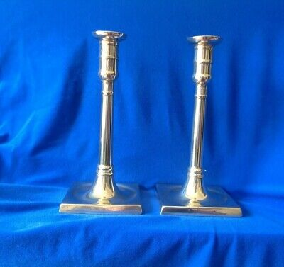 Pair of English 18 th Century Column Candlesticks