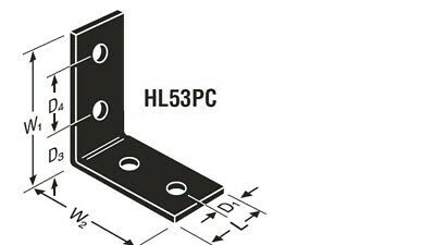 Simpson Strong-Tie Bracket Heavy Angle Powder Coated Black HL53PC FREE SHIPPING