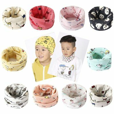 Kids Boys Girls Soft Cotton Scarves Warm Lovely Pattern Baby Collars Scarf us