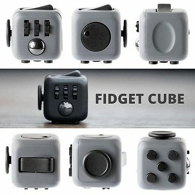 Fidget Cube Toy Stress Relief Focus For Adults Children 6+ADHD&AUTISM Xmas hK