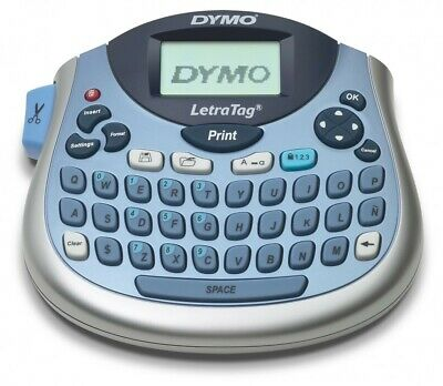Tabletop Label Maker Dymo LetraTag Personal Compact Portable QWERTY Labeller Kit
