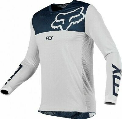 2019 Fox AIRLINE Motocross MX Race OffRoad Jersey WHITE NAVY Adults