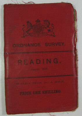 1897 Old Antique OS Ordnance Survey Revised New Series One-Inch Map 268 Reading