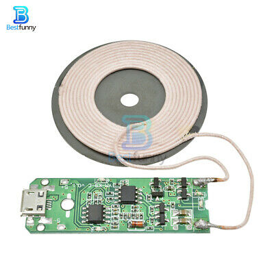 DIY WIRELESS CHARGER Qi Transmitter Module Large Coil PCB 5V