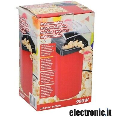 Macchina popcorn 900W Rosso Partytime