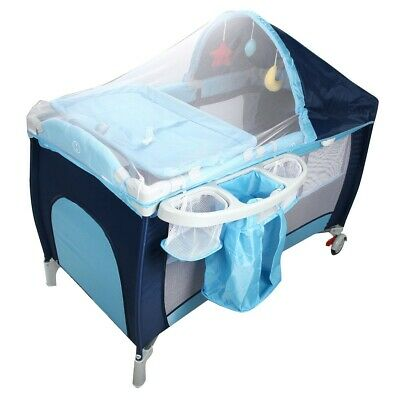 Baby Cot Bed Bassinet Playpen with Net