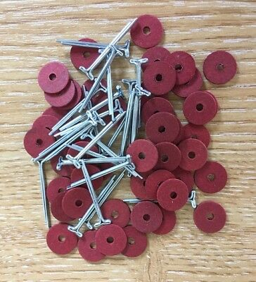 10mm Teddy Bear Cotter Pin Joints x 50 fibre board disks & 25 pins (for 5 bears)
