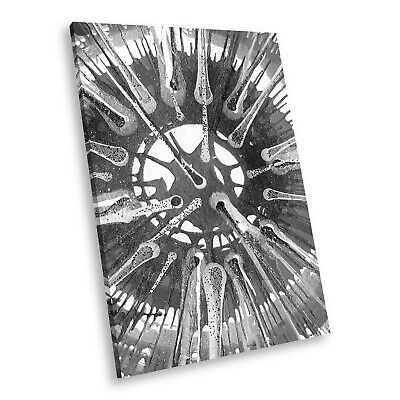 AB1260 Funky Black White Abstract Portrait Canvas Picture Prints Small Wall Art