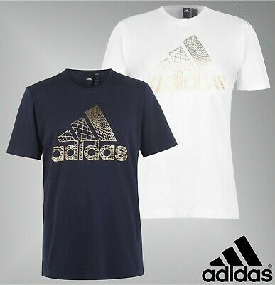 Mens Adidas Short Sleeves Lightweight Crew BOS Foil T Shirt Sizes from S to XXL