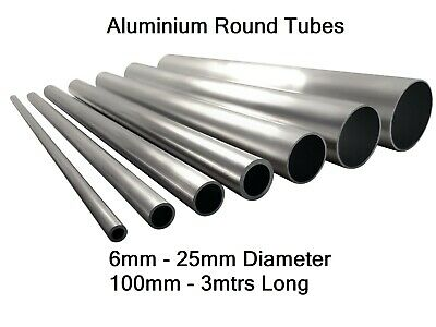 Aluminium Round Tube Pipe 6mm 8mm 10mm 12mm 16mm 20mm 22mm 25mm