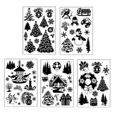 Christmas Transparent Silicone Clear Stamps for DIY Scrapbook Album Card Deco BC