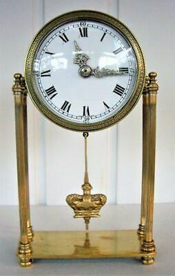 Elegant Antique Portico Mantel Clock - Working Well