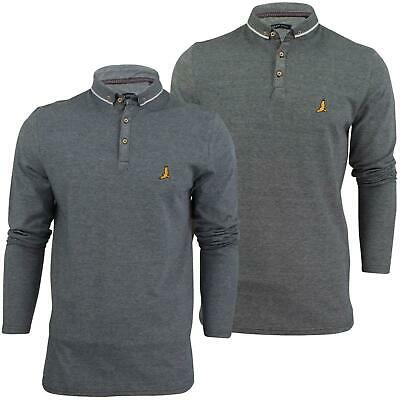 Mens Polo Shirt by Brave Soul 'Stage' Collared Long Sleeved S-XL