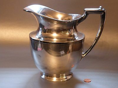 sbx ANTIQUE EARLY 20TH C SILVERPLATE MERIDEN PITCHER