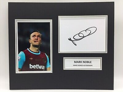 RARE Mark Noble West Ham Signed Photo Display + COA LAST GAME AT UPTON PARK