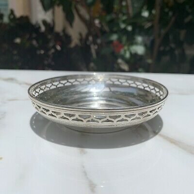Tiffany & Co Nut Dish with Pierced Edges Sterling Silver 4 Inches
