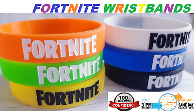 10 x  Fortnite Video Game Silicone Wristband Bracelet Party Bag Fillers Birthday
