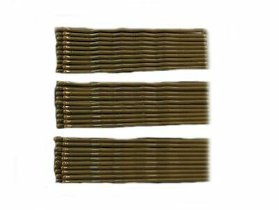 36 Extra Long Brown Kirby Hair Grips Slides Clips Pins 6.5cm bobby pin ladies UK