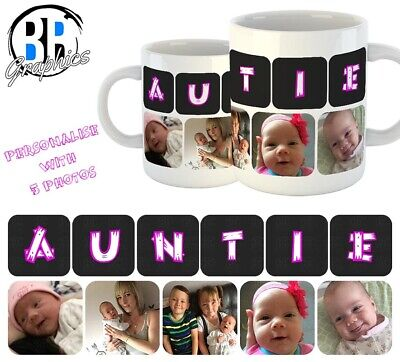 PHOTO AUNTIE MUG Personalised Birthday Christmas Gift Best AUNTIE Present Cup
