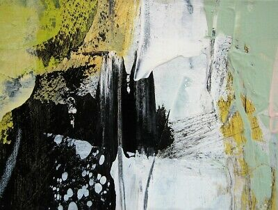 ACEO Original contemporary abstract Painting acrylic paper Revival #57 KCrosby