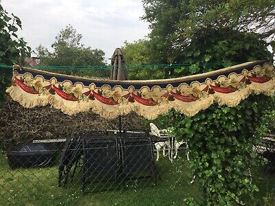 Antique French Tapestry ( from a Chateau ) Wool Valance, Faded Grandeur.