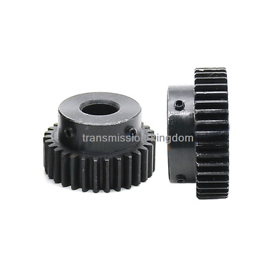 1.5Mod 30T Spur Gear 45# Steel Outer Dia 48mm Bore 6/8/10/12/15/17/20mm x 1Pcs