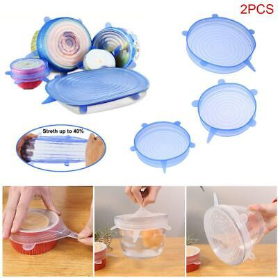 12pcs/set Silicone Stretch Bowl Wraps Food Saver Covers Seal Insta Lids Reusable