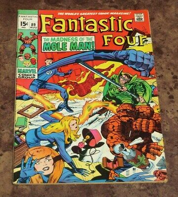 Fantastic Four #89 FN/VF Marvel Silver Age Comic Thing Mr Fantastic Jack Kirby