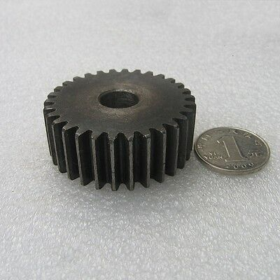 3.0Mod 27/28/29Tooth Motor Gear 45# Steel Spur Gear Thickness 30mm x 1Pcs