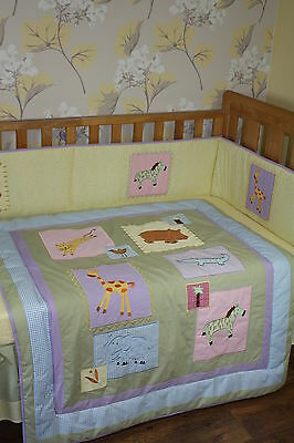 NEW Baby cot/cotbed QUILT ONLY, Bedding (nursery) Jungle Animals design, unisex