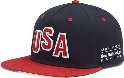 Aston Martin Red Bull Racing Special Edition USA Grand Prix Flat Brim Cap 2018
