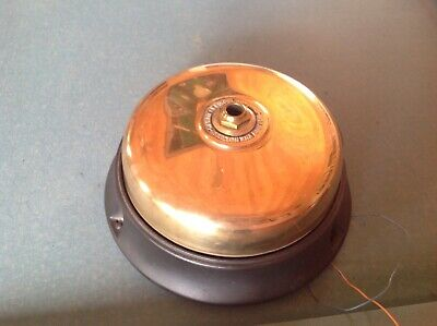 10-inch Vintage Holtzer Cabot Brass & Cast Iron Fire Alarm Antique Gong-Bell