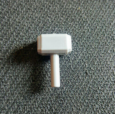 NEW LEGO Mjolnir Minifigure Utensil Thor's Hammer Light Bluish Gray 75904