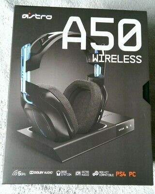 Astro A50 - Wireless 7.1 Black Gaming Headset (for PS4 or PC) - NEW & SEALED!!