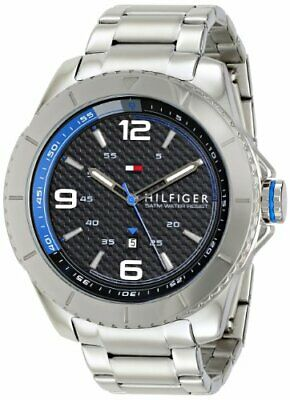 Tommy Hilfiger Men's Silver-Tone Stainless Steel Watch 1791002