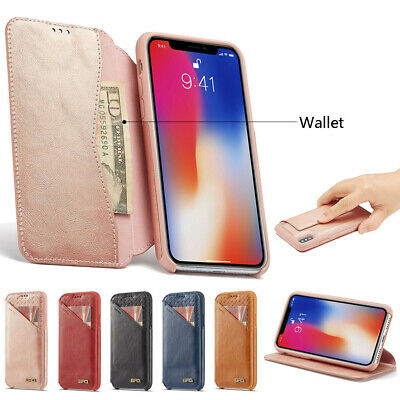 Luxury Business Flip Card Wallet Shocproof PU Leather Phone Case For iPhone Lot