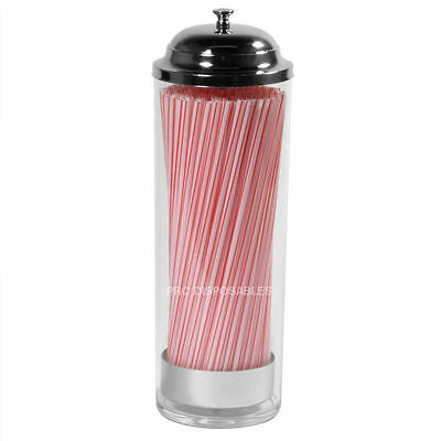 Plastic Straw Dispenser Retro Old Fashioned Drinking Straws Holder Cafe Bar Home