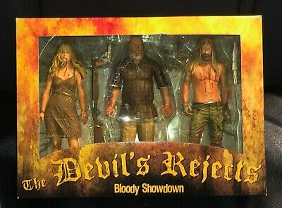 NECA REEL TOYS 2005 The Devil's Rejects Bloody Showdown 3 Pack Box Set UNOPENED