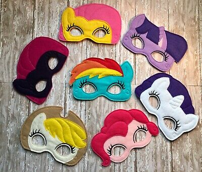 Inspired My Little Pony  Felt Masks 7 to choose from Halloween Dressup Costume
