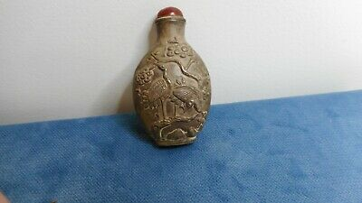 Vintage Chinese Silver Snuff Bottle      N69141