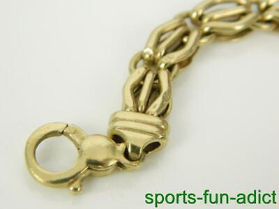 """Vintage 14K VIOR Italy Yellow Gold Ornate Open Work Puffy Link Bracelet 6 1/4"""""""