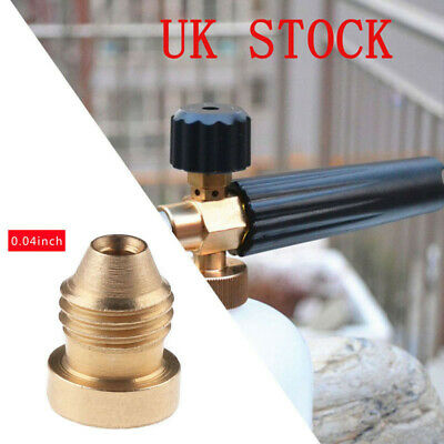 1.1mm Orifice Brass Thread Nozzle Tips for Snow Foam Cannon Lance Replacement
