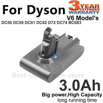 Replace Battery for DYSON V6 DC58 DC59 DC62 DC72 DC74 SV03 BC683 Absolute 3.0Ah