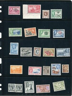 British Commonwealth, Colony Unused MH 45 Postage Stamp Collection w/Holder