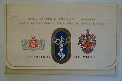 Olympic Games Collectable 1956 Melbourne Vintage Myer Emporium Ticket Envelope
