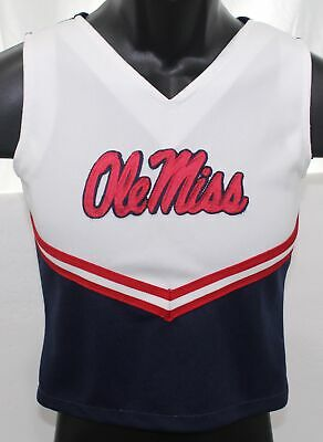 Ole Miss Rebels Signature Design Youth Girls Size 8 Cheerleading Top Poly Shirt