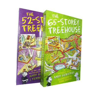 Andy Griffiths Collection 2 Books Set The 65-Storey Treehouse,52-Storey Treehous