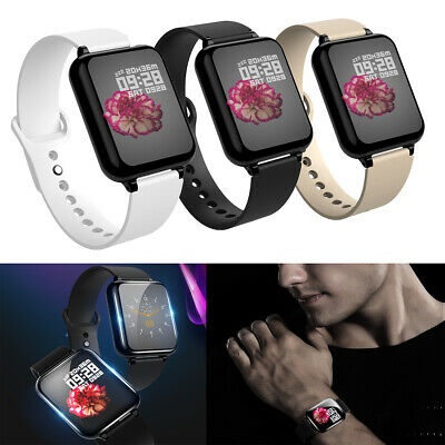 Bluetooth Smart Watch Blood Pressure Heart Rate Monitor For iOS Android Phones