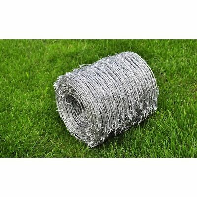 Barbed Wire Roll Steel 500m 1.6mm High Tensile Outdoor Garden Fence Protect Y9K5
